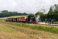 Lok 12 setzt im Bahnhof Katzenstein um