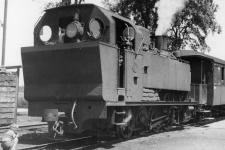 Lok WN 5 abfahrbereit in Dillingen, 1947