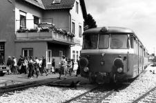Schülerverkehr mit T 37 in Laichingen, ca. 1980
