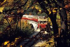 Oktober 1972: Abschiedszug der Härtsfeldbahn