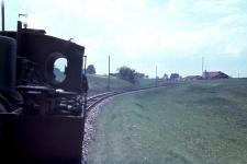 Mallet Lok 1 auf einer ihrer letzten Fahrten im Jahr 1956 bei Guldesmühle