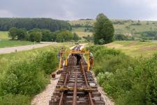 Gleisbau am Härtsfeldsee