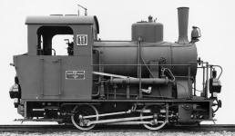 Werksfoto der Lok WN 11, Esslingen 1913