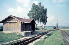Der Zug isch äbe naus! Bahnhof Ziertheim, Sommer 1956