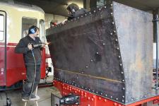 Januar 2012: Nieten des Kohletenders