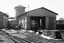 1971 am Lokschuppen in Neresheim, v.l.n.r. T 32, T 37 und T30