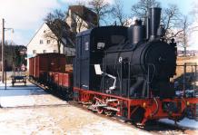 Denkmalslok WN 11 wieder auf HMB - Gleisen, Dezember 1995