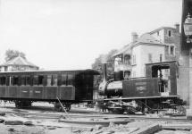"""Wagen A1, später WN 8, kurz vor der Eröffnung der """"Zacke"""" 1884 in Stuttgart"""