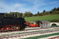 Das originellste Fahrzeug der Härtsfeldbahn: die Draisine