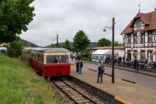 Der erste Zug des Tages wird in Neresheim bereitgestellt
