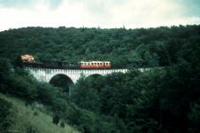 GmP mit T 30 auf der Brücke zum Härtsfeld um 1960