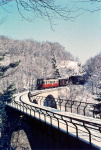 T 31 mit Güterzug auf dem Viadukt, Winter 1967