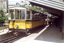 """""""Zacke"""" Bw 117 um 1980 am Marienplatz in Stuttgart"""