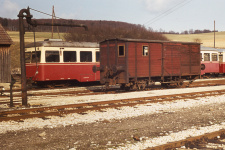 Pufferwagen WN 107 vor TA 103 am 20. April 1973 in Neresheim