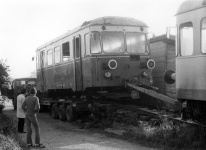 Abholung des T 33 aus Amstetten am 10. November 1984